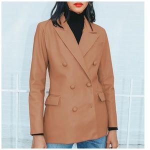 NWT Blank Nyc Faux Leather Blazer